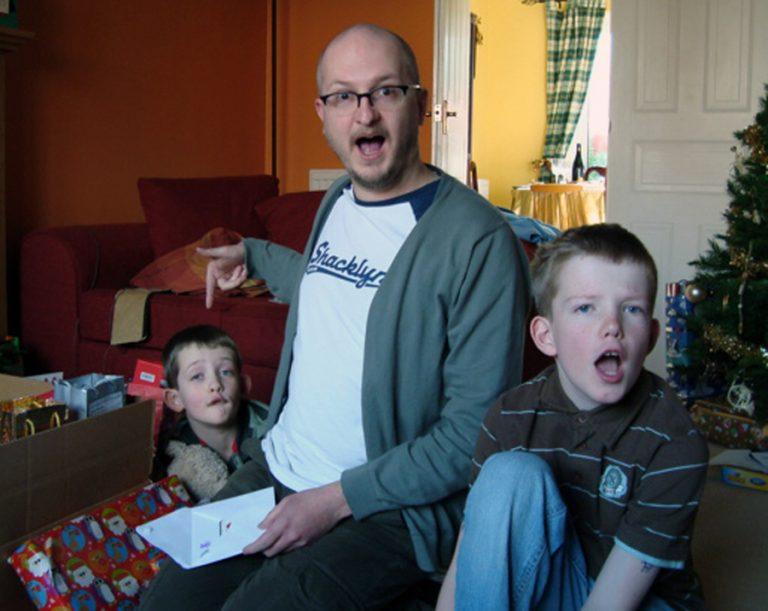 39.With the nephews 2008