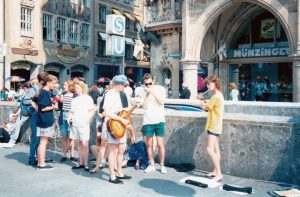 Basking in Munich on the 1989 WYCO tour